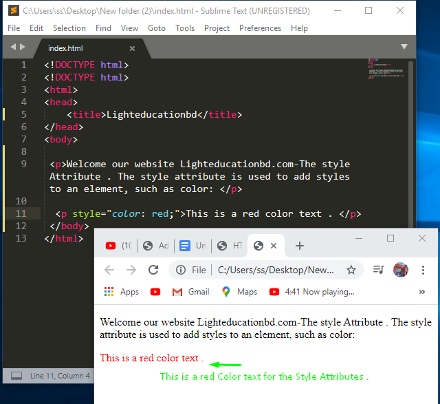 HTML Style Attribute